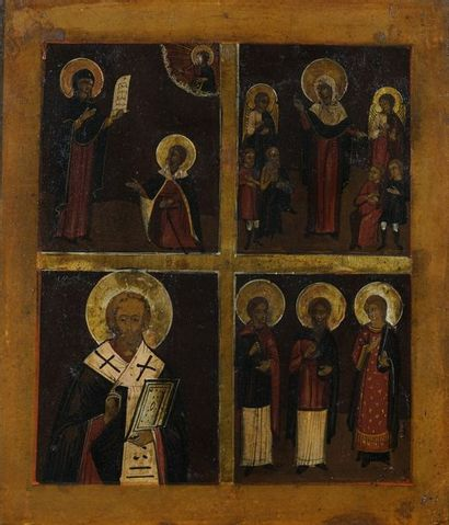 Icône à quatre registres figurant la Mère...