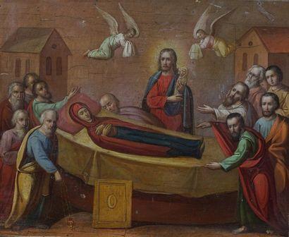 Icône de la Dormition de la Mère de Dieu....