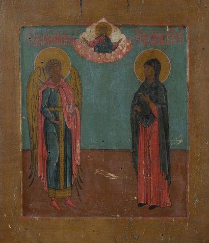 Icône figurant le Saint Archange Michel et...
