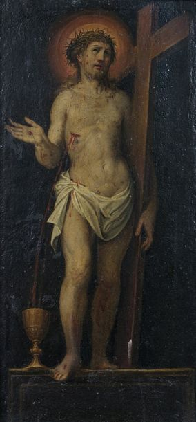 Ecole Florentine fin XVI ème  Christ Ressuscité...