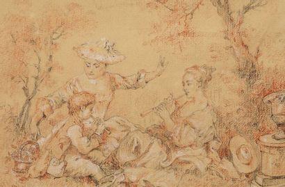 Ecole française du XVIIIe siècle, dans le...