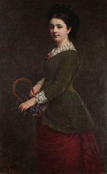 Emma Adèle Blanche ROSLIN (?-1883)  Jeune...