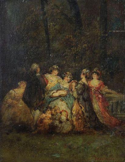 Attribué à Adolphe MONTICELLI(1824-1886)...