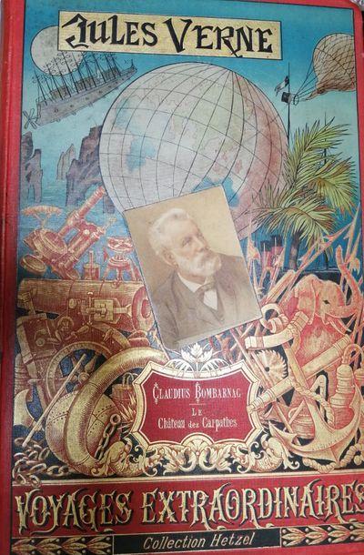 VERNE (Jules). Claudius Bombarnac. Paris, Hetzel, 1892-1893. Cartonnage au portrait...