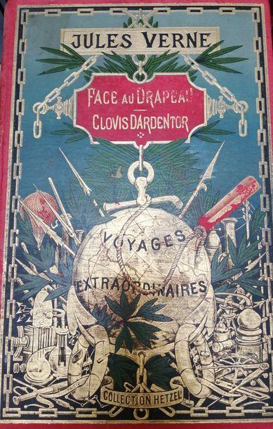 VERNE (Jules). Face au drapeau. Paris, Hetzel,...