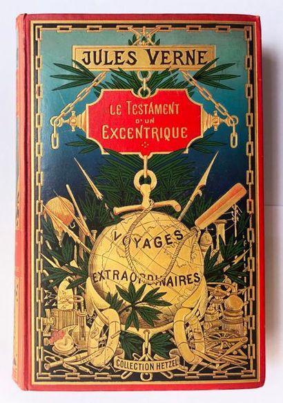 VERNE (Jules). Le Testament d'un excentrique. Paris, Hetzel, 1899-1900. Cartonnage...