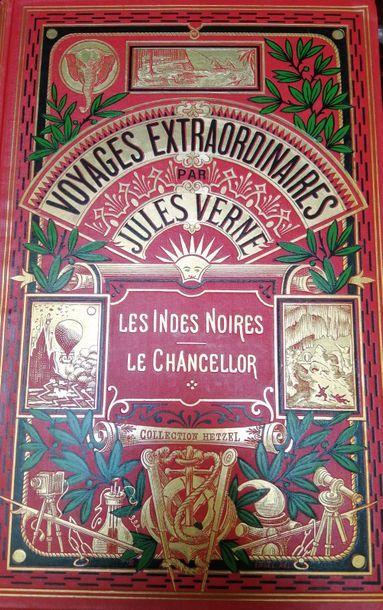 VERNE (Jules). Les Indes Noires. Paris, Hetzel,...