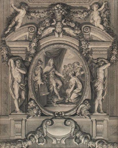 Louis XIV Estampe représentant le Roi Soleil...