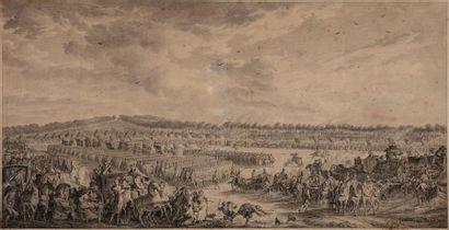 Louis XV Estampe, Revue passée par Louis...