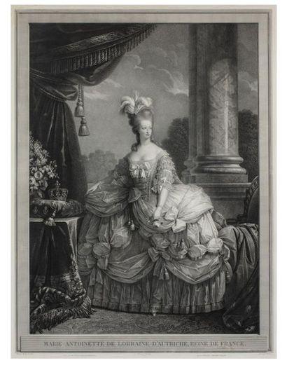 Marie-Antoinette Estampe titrée Marie-Antoinette...