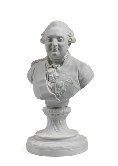 Louis XVI Buste en biscuit de porcelaine...