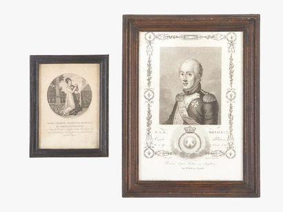 Comte d'Artois et duchesse d'Angoulême Portrait...