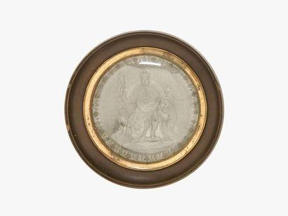 Empreinte du grand sceau de Louis XVIII Epreuve...