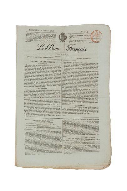 Le Bon Français, Journal au profit des pauvres,...