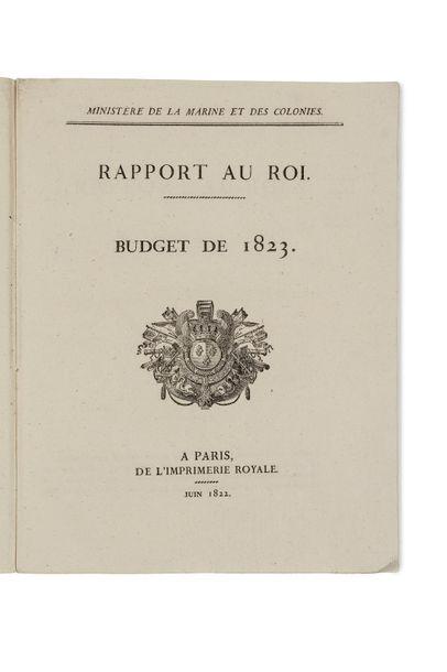 Budget de 1823. Ministère de la Marine et...