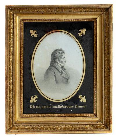 Duc de Berry Gravure le représentant de profil...