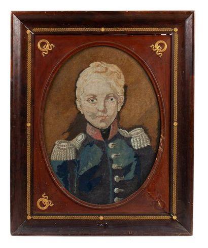 Duc de Bordeaux Rare portrait polychrome...