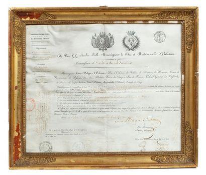 Louis-Philippe, duc d'Orléans Commission...