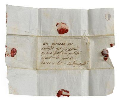 Pie VII Curieux papier plié orné de cachets...
