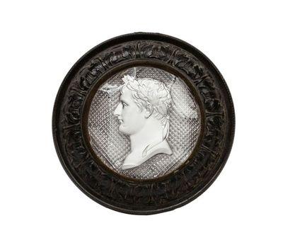 Napoléon Ier Cristallo-cérame au profil gauche...