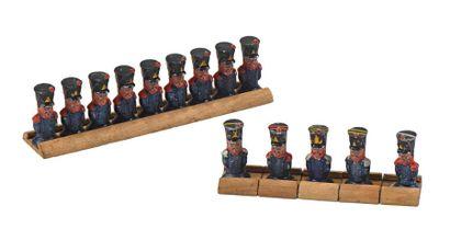 Roi de Rome Ensemble de quatorze soldats...