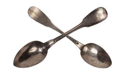 Maréchal MONCEY Lot de deux cuillères à soupe...
