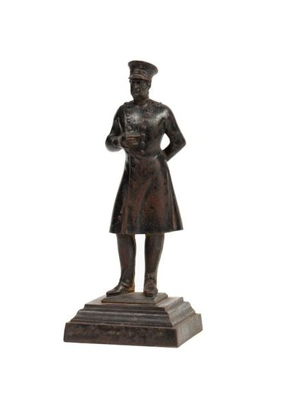 Prusse Statuette en fonte de fer figurant...