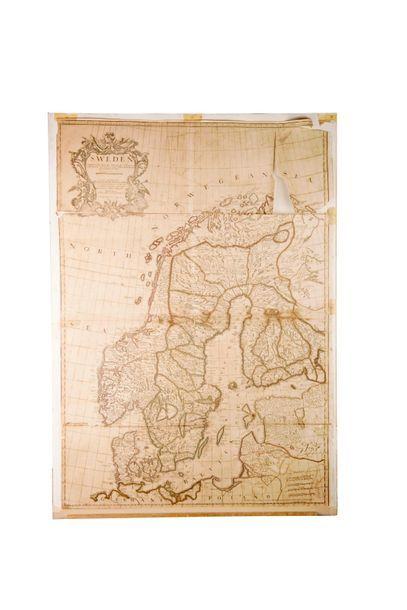 Carte de la Suède. Sweden corrected from...