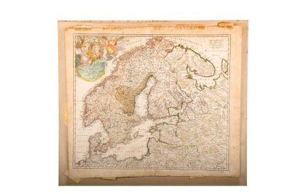 Carte de la Scandinavie. Scandinavia complectens...