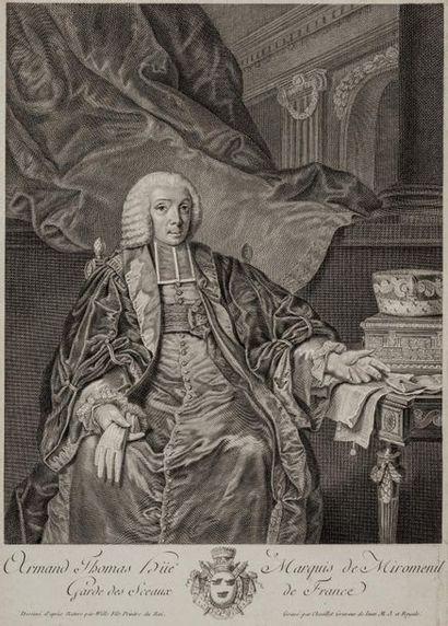 Marquis de Miromenil Estampe représentant...