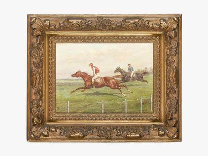 Olivier PICHAT (1825-1912) Scène de course...