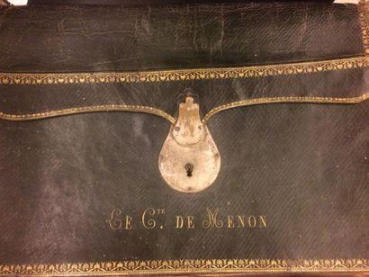 Comte de Menon Portefeuille en cuir vert...