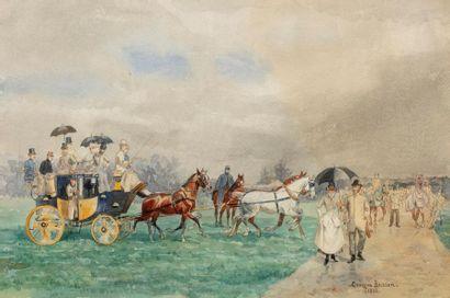 George BUSSON (1859-1933) La sortie en calèche...