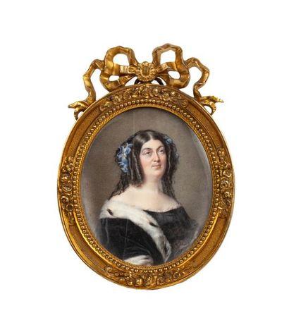 VILLENEUVE Cécile (1824-1901). Portrait de...