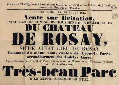 Château de Rosay Affiche de la vente sur...