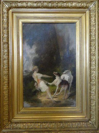 Joseph Urbain MELIN (1814 - 1886) Diane et...