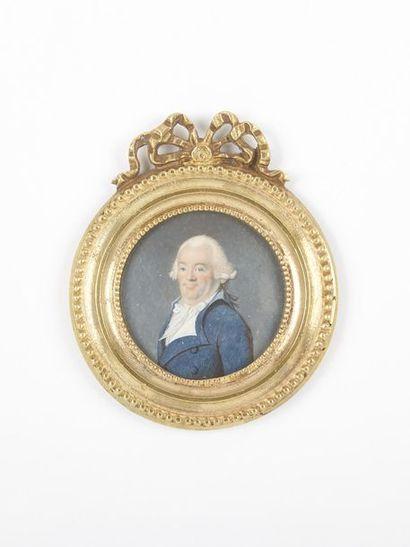 BOZE Joseph (1745-1826). Portrait d'un homme...
