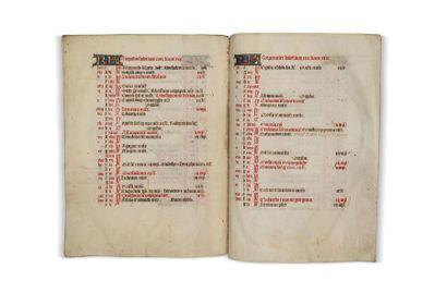 [MANUSCRIT XIVe siècle]. Calendrier extrait...