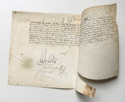[HENRI IV]. Pièce signée