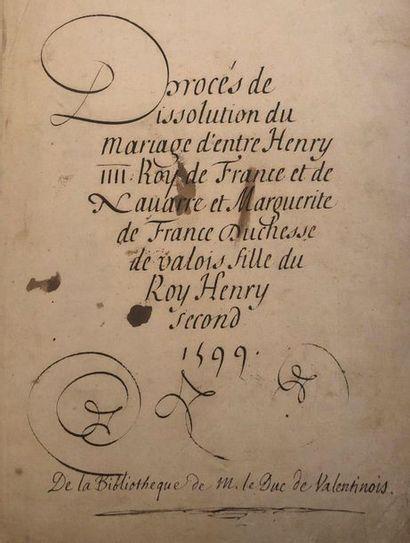 [HENRI IV]. Très intéressant recueil de pièces...