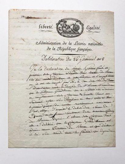 [Loterie nationale - Révolution française]....