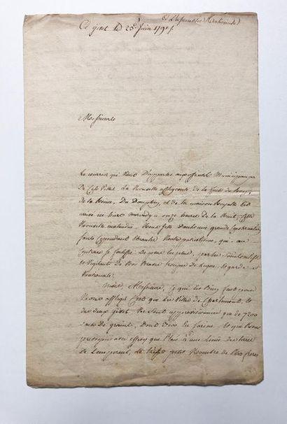 [LOUIS XVI]. Intéressant document manuscrit...