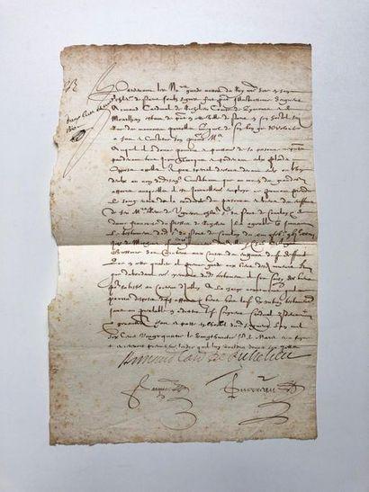 RICHELIEU (Armand du Plessis, Cardinal, Duc...