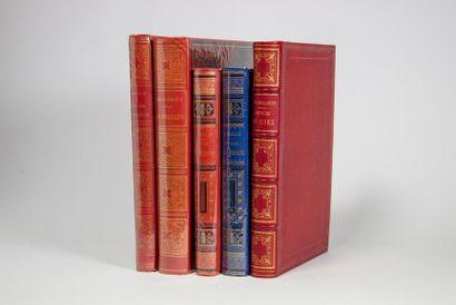 HISTOIRE NATURELLE. Ensemble 5 ouvrages....