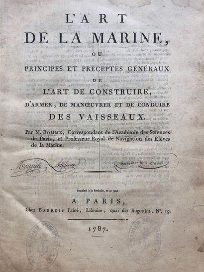 ROMME (Nicolas-Charles). L'Art de la Marine,...