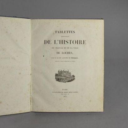 Touraine - PIERRES (Adolphe de). Tablettes...