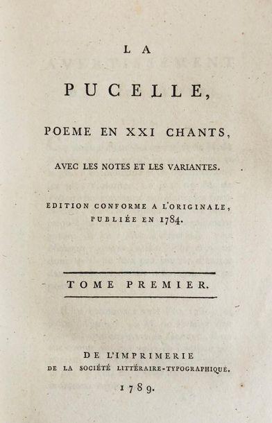 *VOLTAIRE (François-Marie Arouet de). La Pucelle, poème en XXI chants. Avec les...