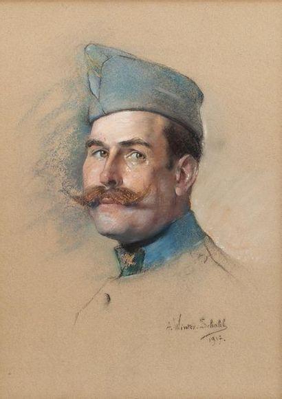 Alice WINTER-SCHAHL (1863-1943). Lieutenant...