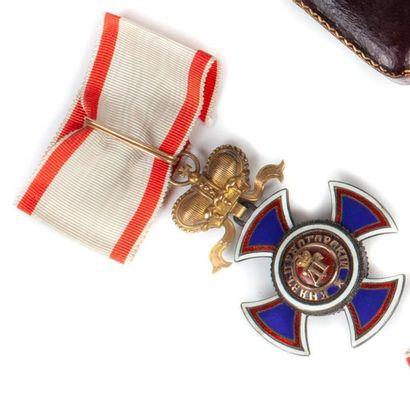 Monténégro Ordre de Danilo. Croix de 3e classe...