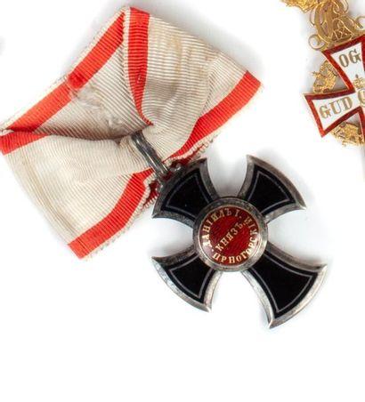 Monténégro Ordre de Danilo. Croix de 5e classe...